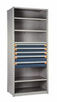 Industrial Shelving Proposals Shown here are some of the most popular drawers in shelving models.