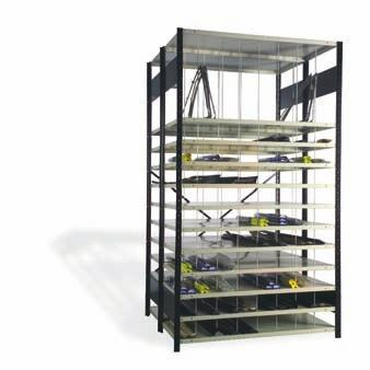 Industrial Shelving Accessories Dividers Shelf Divider SH50 Partial Divider PATENTED SH52 Dividers are attached one into the other; 2 nylon clips provided with each divider;