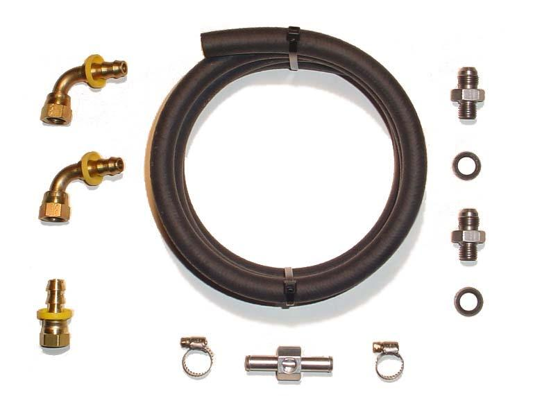 Big Line Kit Contents Qty Item Description 2 90 PushLok to #6 JIC Fitting 1 Straight PushLok to #6 JIC Fitting 2 Metric to JIC Stainless Adapters 2 Cummins Sealing Washers 1 4