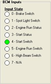 Start Status This feature will be available on future models. This Input can be checked using the diagnostic tool built into the speedometer.