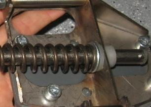 Grease the ends of the fork so that it will slide in the front fork guide and the rear mount block.