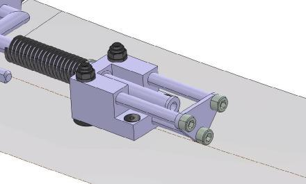 3.3.3 Remove Old Fork Stop System The old fork stop system, that guides the rear end of the rudder centering fork, must be uninstalled when the rudder stop plates are installed.