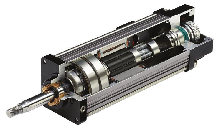 savings. Directly coupling the motor to the actuator also eliminates backlash resulting in significantly higher dynamic response and better overall performance.