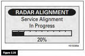 If the radar sensor needs to be aligned, the radar sensor mounting system has become damaged or has loosened, or new radar sensor software has been installed, a Radar Sensor Service Alignment will