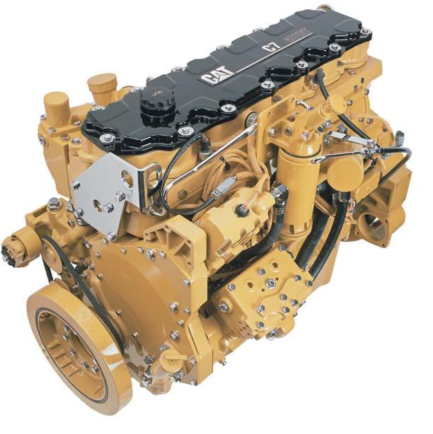 Power Train Exceptional power and fuel efficiency Cat C7 Engine The Cat C7 engine with ACERT technology gives exceptional power and fuel efficiency. Meets Tier 3, Stage IIIA emission requirements.