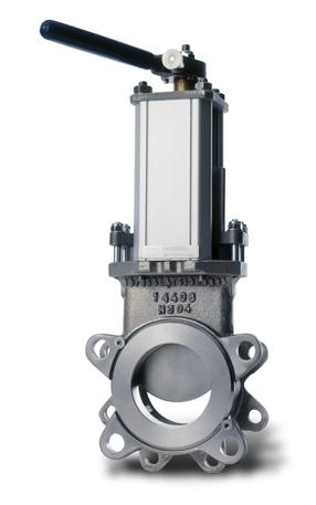 Knife gate valve TV Stafsjö s knife gate valve TV can be used an isolation valve for a transmitter or sensor on a tank for which a short face-to-face length is required.