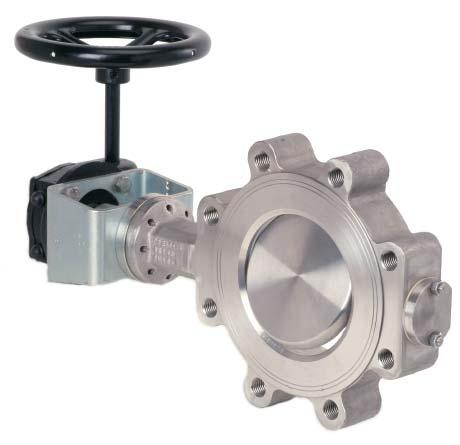 High - Performance Butterfly valve BR 14b / BR 14c Application: Tight-closing, double-eccentric butterfl y control valve especially for the chemical industry where aggressive media s are used, for