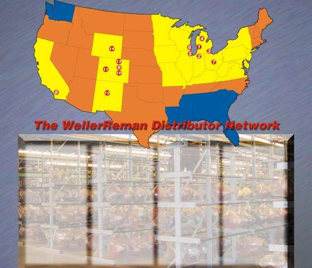 THE WELLER REMAN NETWORK 1 2 3 4 Weller Reman Locations Weller Reman Center 1-800-872-6697 1500 Gezon Pkwy Grand Rapids, MI 49509 South Bend, IN 1-800-968-8860 23921 Western Ave.