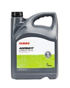 Engine oils With a scientifically balanced formulation and additives combination, CLAAS AGRIMOT engine oils supply the heart of every machine, the engine.