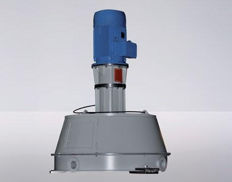 - for combination Standard solution Material feed from above air-swept feed Material feed from