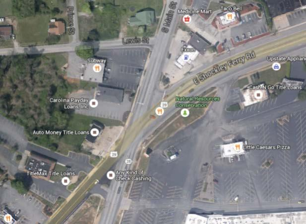 Project: South Main Street @ Shockley Ferry/Lewis Street Total Cost (thousands): 1,490 Description: Realign and upgrade the intersection Purpose: Relieve congestion and increase