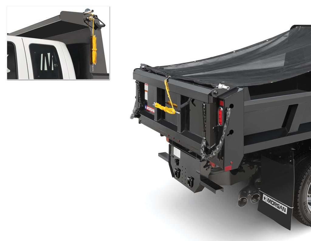 Morgan s optional bulkhead-mounted Pull-Tarp is easy to use, easy to store, and meets D.O.T. mandates for load-securement.