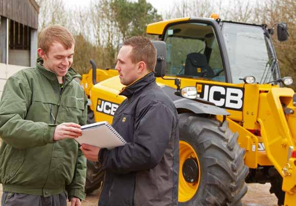 VALUE ADDED. JCB S WORLDWIDE CUSTOMER SUPPORT IS FIRST CLASS.