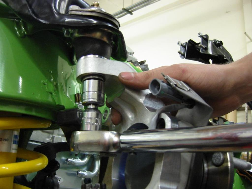Torque the upper ball joint to 31  6
