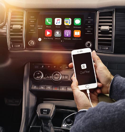 assistance while on the move. ŠKODA CONNECT is your gateway to a world of unlimited communication possibilities.
