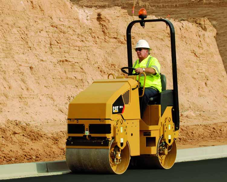 Caterpillar offers a comprehensive line of Utility Compactors. Contact your local Caterpillar Dealer to learn more about the complete line of Caterpillar Paving Products.