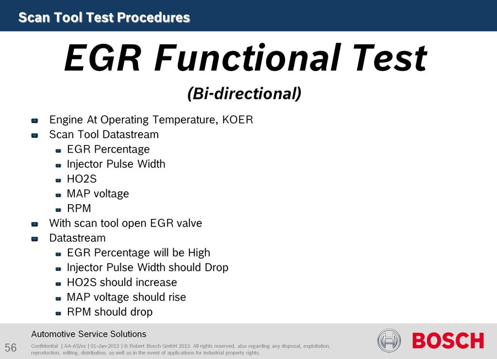 The purpose of this test is to use bi-directional testing to check the electrical and mechanical condition of a device.