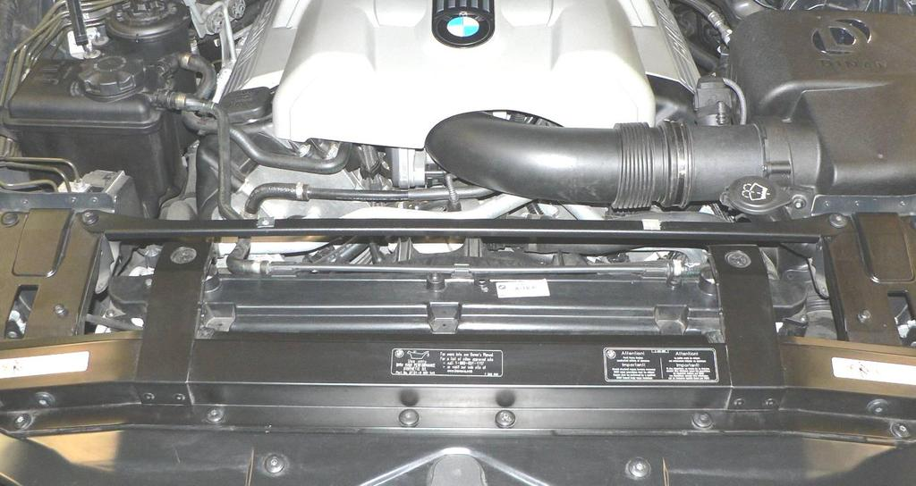 13. Follow BMW TIS instructions to remove the front bumper to gain clearance to install the air duct inlet that picks up