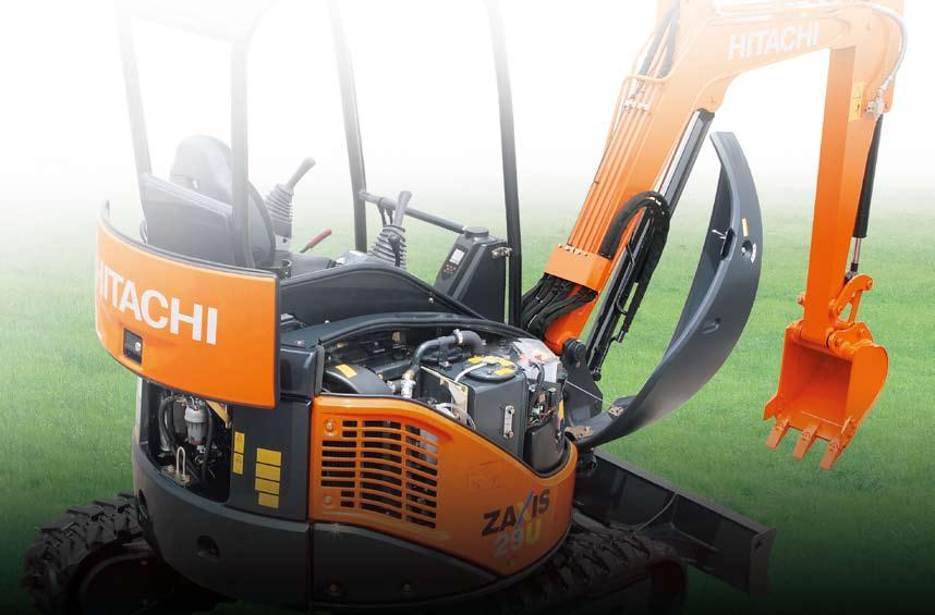 Simple Maintenance and Safety Features Hitachi design expertise eases pre-start check, shortens cleaning time,