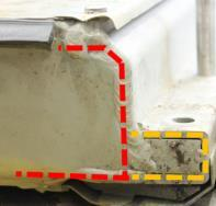 side structure Shield is added to the front underfloor for impact protection Explicit view of Mountingprofile side in