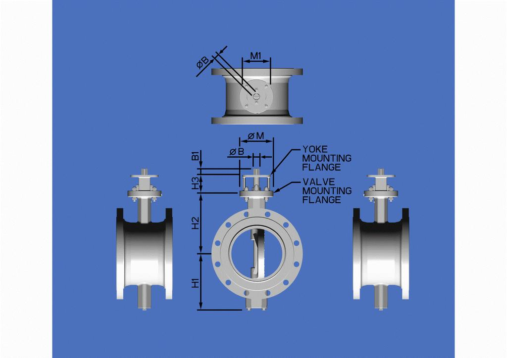 Dimensions-Flanged Valves All dimensions are in mm.