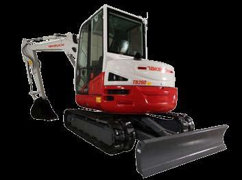 Takeuchi s New 6 tonne Excavator - brings powerful excavating and breakout force in a compact machine size Takeuchi introduces a 6 tonne (5660kg) category of excavator with the new.