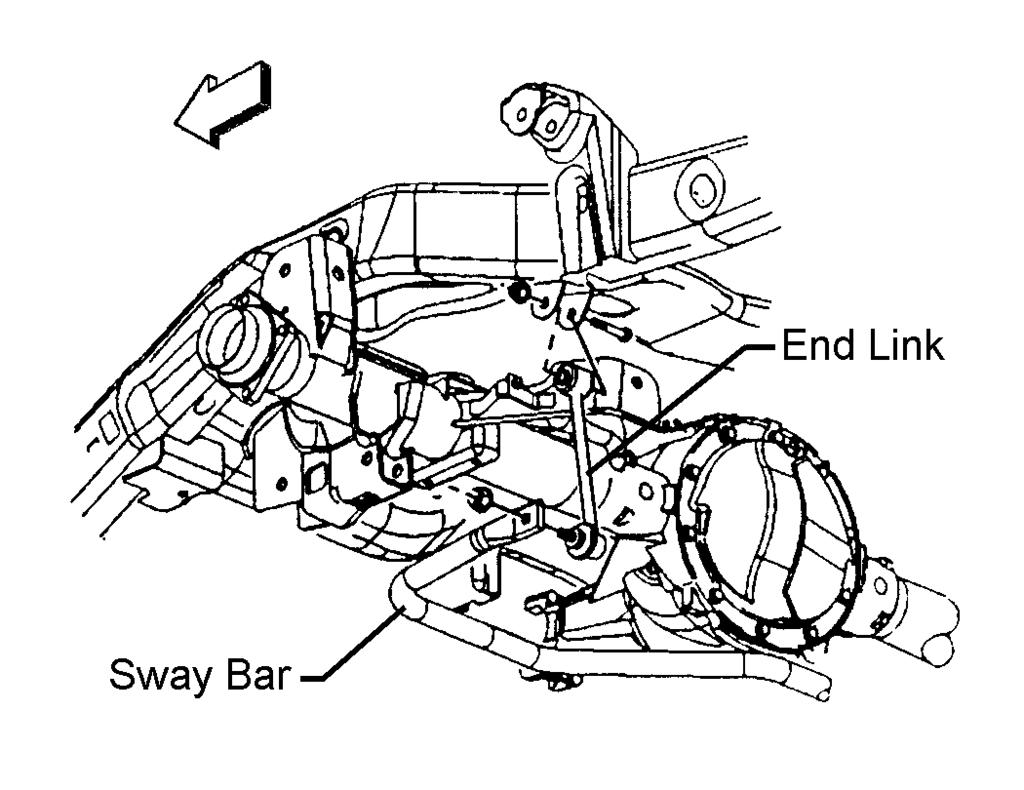 Illustration #20 4) Remove the end link. 5) Repeat steps 3 and 4 for the other side. 6) Remove the upper shock absorber nut and bolt. Remove the lower shock absorber nut and bolt.