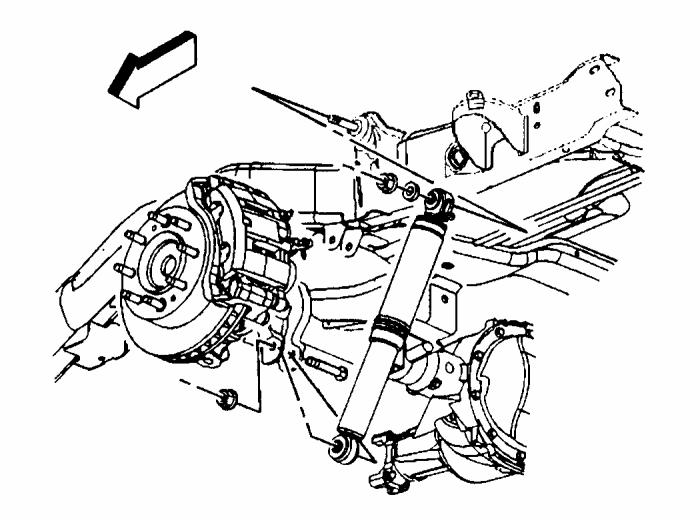Illustration #22 LINK DROP BRACKET & BUMP STOP SPACER INSTALLATION 1) Starting with the driver side, remove the nuts and bolts attaching the upper and lower links to the frame. See illustration #23.
