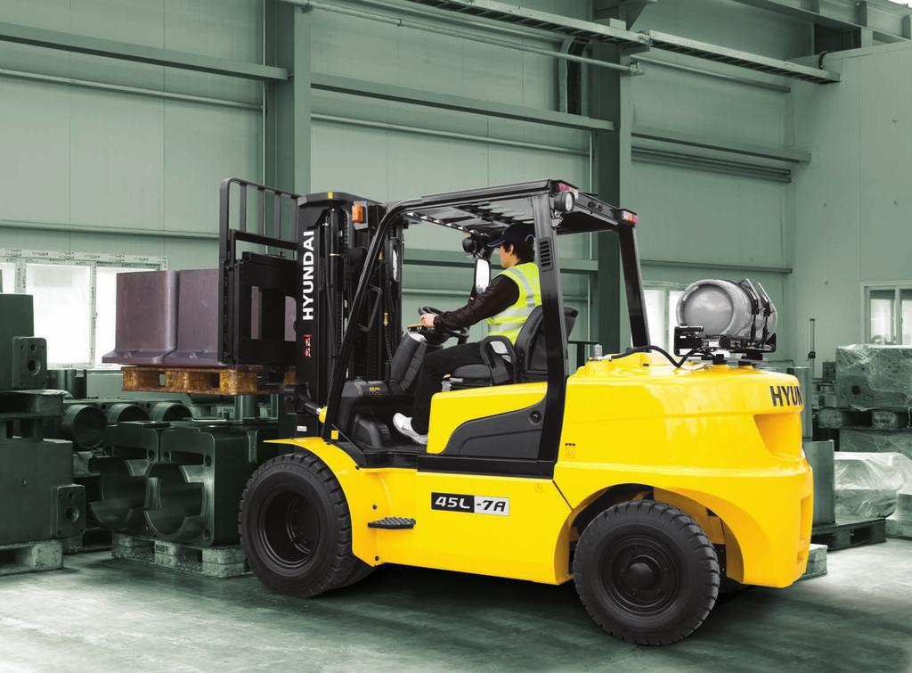 Powerful and efficient engine provides excellent fuel economy and excellent torque for improved operation.