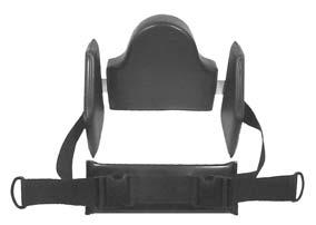 LATERAL CHEST SUPPORTS Attaches to chest support pad and provides additional