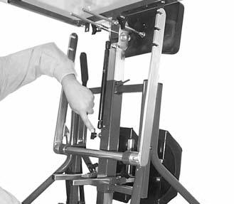 FITTING AND ADJUSTING YOUR GRANSTAND II (Continued) TABLETOP The height of the tabletop may be adjusted as follows: 1.