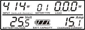 Status, LED/LCD Display and Audible Alarms Fig. 9 CAUTION: It may not cause any damage to solar module or unit when connecting polarity reversals. However, the unit will not be able to work normally.