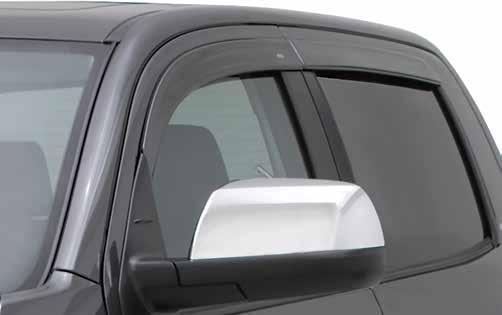 (acrylic) and matte black (ABS) Color-Match Low Profile Ventvisor Flat Design, Lowest Profile Internal