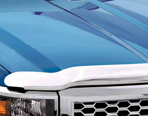 Hood Protection AVS hood shields provide a tough defense against bugs, dirt and road debris for vehicle hoods, fenders and windshields keeping your hood looking showroom new.