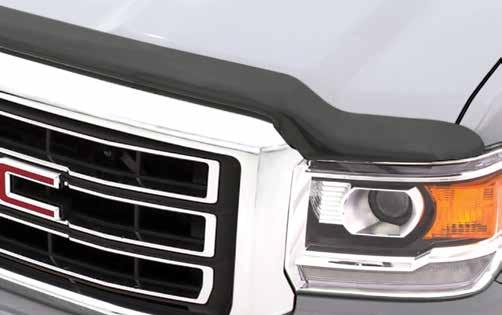 acrylic Carflector Medium profile, wrap design for cars and CUVs Provides deflection to protect hood,
