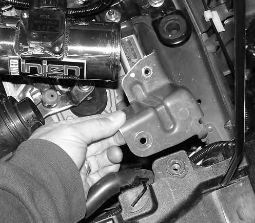 Upon completion of the installation, reconnect the negative battery terminal before you start the engine. 2.