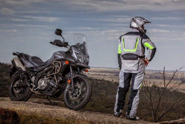 METALLIC MAT GREY V-STROM 650XT On Earth the road never ends.
