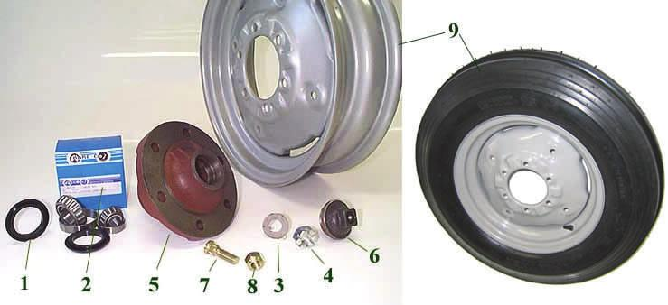 21 Wheel Hub $66.00 Hub Cap $9.36 Wheel Stud $2.50 Wheel Nut $2.20 Wheel Rim 600x16 Tyre $88.00 Steering Tie Rod Ends-Rear End $28.50 Front End $25.