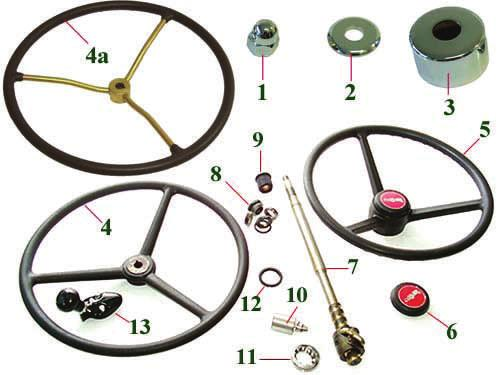 00 per side Keyed Washer- -1 1/4in Dia $3.56 Castle nut $8.27 Wheel Hub $72.00 Hub Cap $9.36 Wheel bolts $2.81 ea Wheel Rim $88.00 Hoses Top Hose $7.