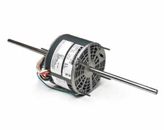 Fan and Blower - Direct Drive, PSC, Open Air Over Belly Band Thru-Bolt, Double Shaft Applications: Continuous air over applications, such as room air conditioners, fan coil units, and other air
