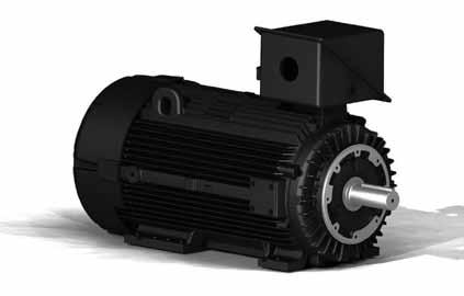 TEBC Blower Cooled, Ground Brush, F3 440TCZ TEFC Cast Iron, Tapered