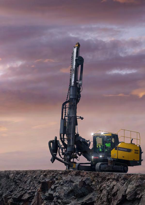 powerroc T50 Surface drill rig for limestone and cement quarrying,
