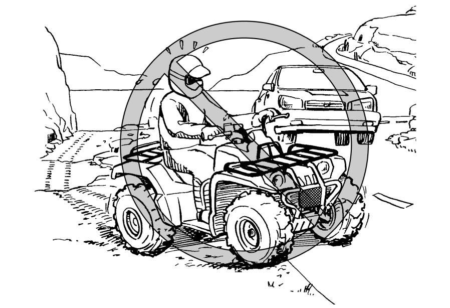 0 Know the terrain where you ride. Ride cautiously in unfamiliar areas. Stay alert for holes, rocks, or roots in the terrain, and other hidden hazards which may cause the ATV to upset. WARNING!