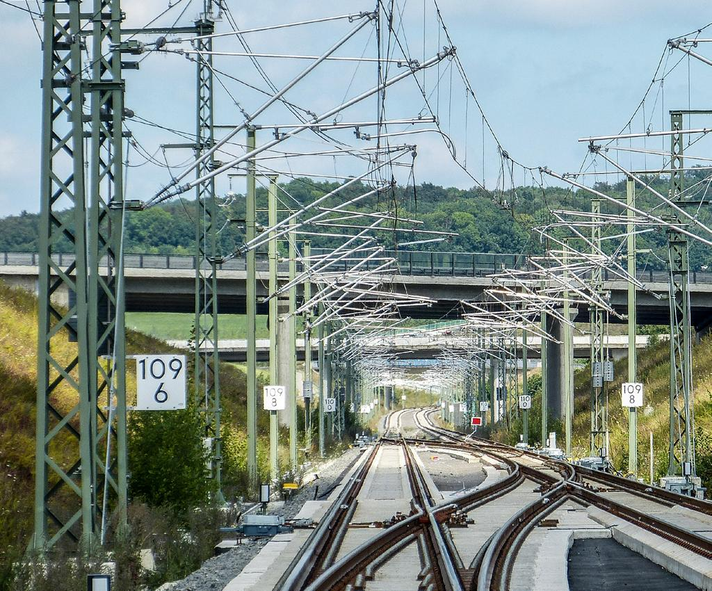 Expertise Overhead Line Construction Better capacity utilisation of railway lines, denser intervals between trains and higher speeds mean that stresses and strains on overhead lines are constantly
