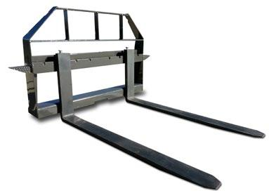 Standard Duty Pallet Forks & Frame Anyone that owns a skid steer should have a set of forks on hand. Forks are ideal for lifting pallets, loading lumber or just about anything else.