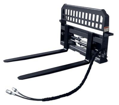 Heavy Duty Pallet Forks & Frame - Hydraulic Pallet Forks & Frame Anyone that owns a skid steer should have a set of forks on hand.