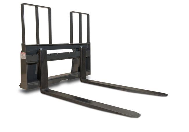 Heavy Duty Walk Through Pallet Forks & Frame If you own a skid steer, you should have a set of forks on hand. Our walk through frame is exactly what it says.