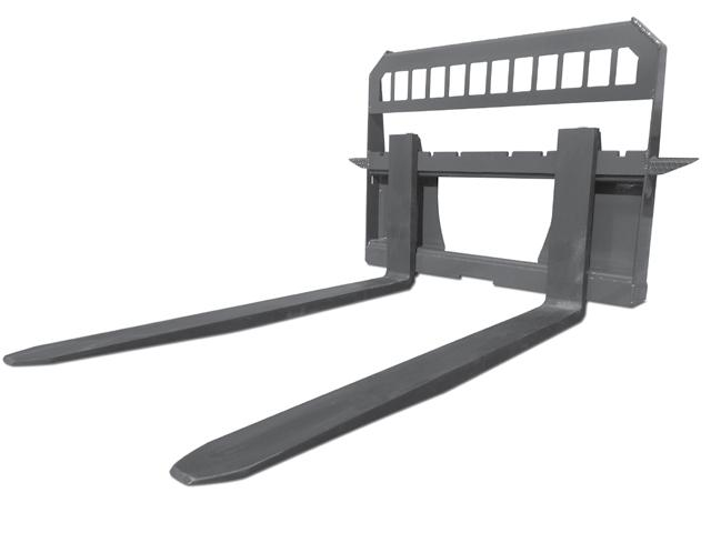 X-treme Pallet Forks & Frame Anyone that owns a skid steer should have a set of forks on hand. Forks are ideal for lifting pallets, loading lumber or just about anything else.