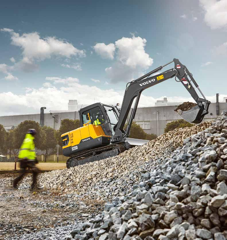 Power to perform Do more in less time with market-leading power, outstanding combined digging efforts and faster digging equipment speed of the EC55D.