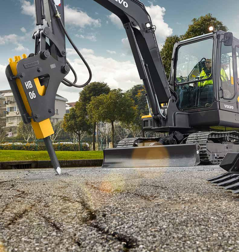 Robust attachments to match Well-engineered and built to last in tough conditions, Volvo s robust, high quality buckets and hydraulic breakers offer high durability and performance.
